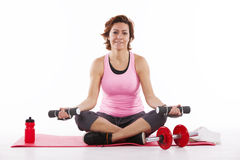 Mature woman working out Stock Photo