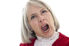 Mature woman yelling Stock Images