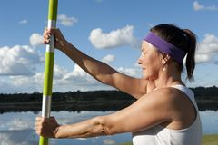 Mature Woman Yoga Royalty Free Stock Image