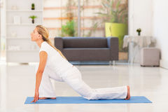 Mature woman yoga Royalty Free Stock Photo