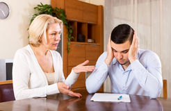Mature woman and young boyfriend Stock Image