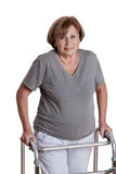Mature Woman with Zimmerframe Stock Photography