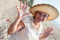 Mature women. Portrait of mature woman enjoying her vacation at the beach Stock Photo