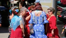 Mature women on Seville fair Royalty Free Stock Photos