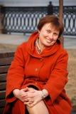 Mature woman smiling Stock Photos