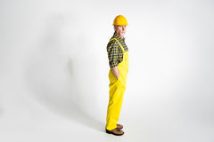 Mature workman in hard hat Stock Images