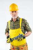 Mature workman in hard hat Royalty Free Stock Photography
