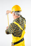 Mature workman in hard hat Royalty Free Stock Image
