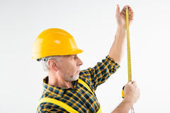 Mature workman in hard hat Stock Image