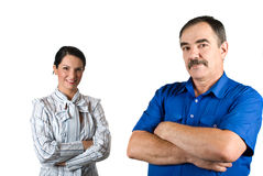 Mature and young business people Royalty Free Stock Photo