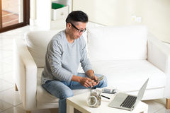 Matured asian male Stock Photography