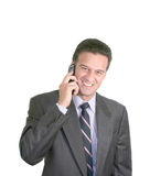 Matured Businessman. Talking on a cellphone Royalty Free Stock Images