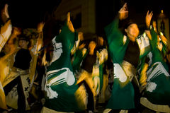 maturi японца празднества танцора женское стоковое фото rf