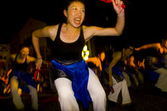 maturi för japan för dansarekvinnligfestival Arkivfoton