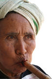Maturity 1. Close-up old women stock image