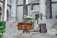Matvagn vid det Los Angeles stadshuset Royaltyfri Fotografi