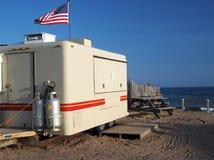 Matvagnen på dikeslättar sätter på land Montauk New York Arkivfoto