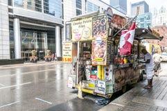 Matvagnsstalls, kiosksymbolsuppsättning Royaltyfri Fotografi