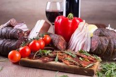 Matvaruaffär och vin Fotografering för Bildbyråer