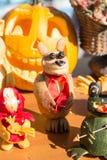 MATYRSKY, RUSSIA - September 23, 2017: The Pumpkin Porridge Festival. Scarecrow from a pumpkin Stock Photography