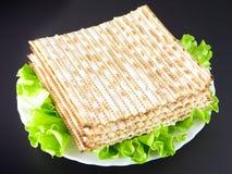 Matza. Jewish religious feast Passover traditional food Matza Stock Photography