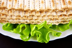Matza. Jewish religious feast Passover traditional food Matza Royalty Free Stock Images