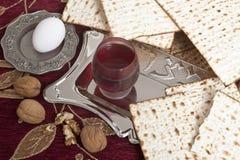 Matza bread for passover celebration. Eg,nuts  and matza bread for passover celebration Royalty Free Stock Images
