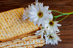 Matza bread for passover celebration Royalty Free Stock Photography