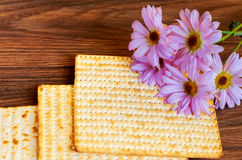 Matza bread for passover celebration Stock Image