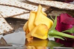 Matza bread for passover celebration Royalty Free Stock Photos