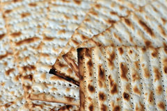 Matza for Jewish Holiday Passover. Traditional Jewish Matzo sheets on a Passover Seder table. Passover is a Jewish holiday festival. It commemorates the Exodus Royalty Free Stock Images