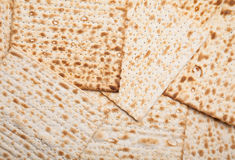 Matza judaico como o fundo Imagens de Stock Royalty Free
