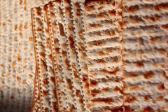 Matza. Pieces of matza, Jewish bread fried in the fire, picture sdelanaya close Royalty Free Stock Photos