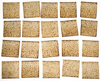 Matza slices organizing in rows Royalty Free Stock Photo