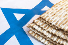 Matza. Traditional unleavened bread for Passover Stock Photo