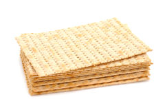 Matza on white background Royalty Free Stock Image