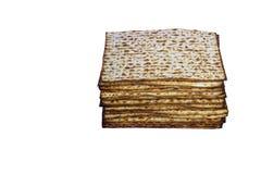 Matzah ?ydowskiego tradycyjnego Passover niekwaszony chleb Pesach ?wi?towania symbol Odosobniony wizerunek obraz stock