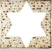 Matzah и Звезда Давида Стоковое Изображение