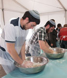 Matzah Baking Workshop. A matzah baking workshop sponsored by Jerusalem City Hall. The event is taking place at Safra Square and intend to bring the tradition of Stock Image