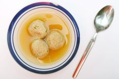 Matzah ball soup Stock Photos