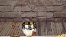 Matzah för påskhögtid för ferie för påskhögtid för judiskt begrepp för feriePesah beröm judisk stock video