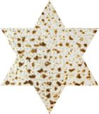 Matzah in the form magendavid Royalty Free Stock Image