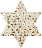 Matzah in the form magendavid Royalty Free Stock Image