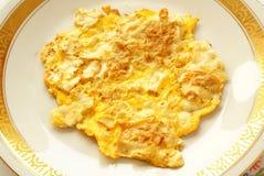 Matzah fritto (stile dell'omelette) immagine stock