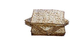 Matzah Jewish traditional Passover unleavened bread. Pesach celebration symbol. Isolated image. royalty free stock photos