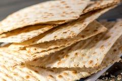 Matzah, matza, matzo, unleavened ψωμί Στοκ φωτογραφία με δικαίωμα ελεύθερης χρήσης