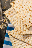 Matzah, matza, matzo, unleavened bread Royalty Free Stock Photo