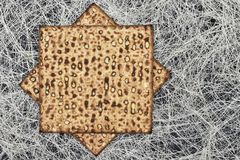 Matzah no pesah alegre do feriado do pesah imagens de stock