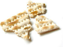 Matzah three pieces isolated Stock Photography