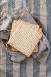 Matzah - Unleavened Bread for Passover Royalty Free Stock Photo